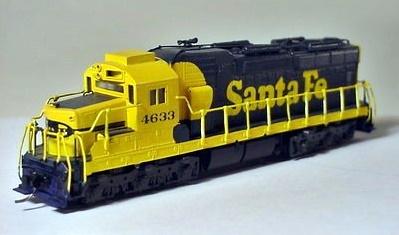 N Scale - Hallmark Models - NS0541 - Locomotive, Diesel, EMD SD26 - Santa Fe - 4633