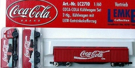 N Scale - Lemke - LC2710 - Vehicle, Refrigerated Truck, Reefer - Coca-Cola - 3-Pack