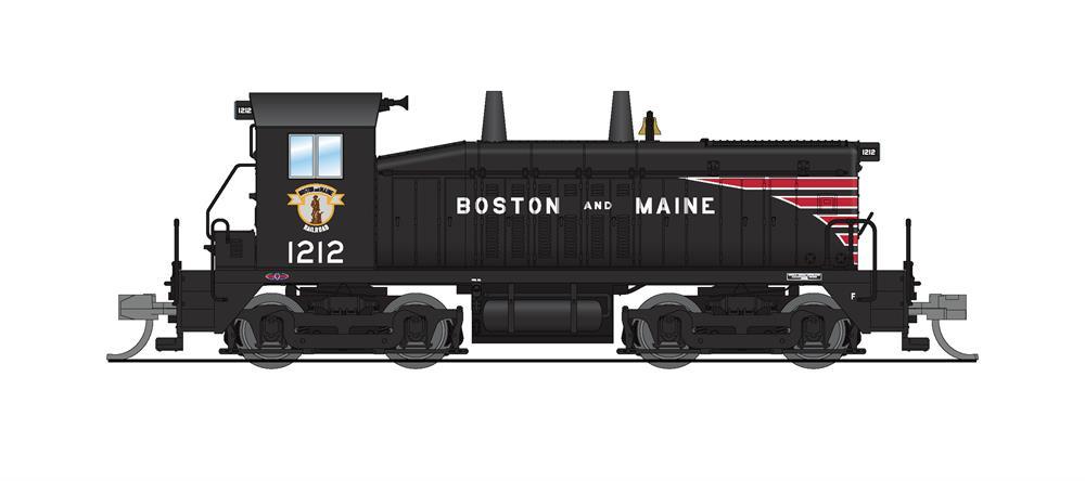 N Scale - Broadway Limited - 3911 - Locomotive, Diesel, EMD NW2 - Boston & Maine - 1212