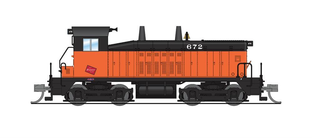 N Scale - Broadway Limited - 3919 - Locomotive, Diesel, EMD NW2 - Milwaukee Road - 672