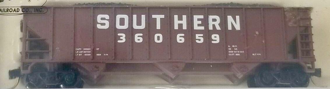 N Scale - Atlas - 32721 - Open Hopper, 3-Bay, 90 Ton - Southern - 360659