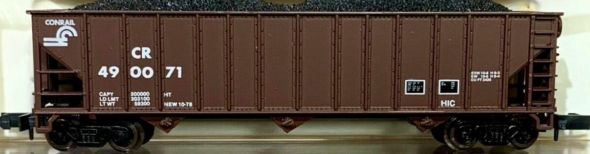 N Scale - Atlas - 3277 - Open Hopper, 3-Bay, 90 Ton - Conrail - 490071