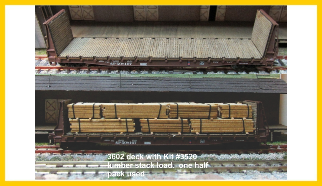 N Scale - RSLaserKits - 3602 - Accessories, Details, Bulkhead Decking - Undecorated - Wood Deck for Bulkhead Cars