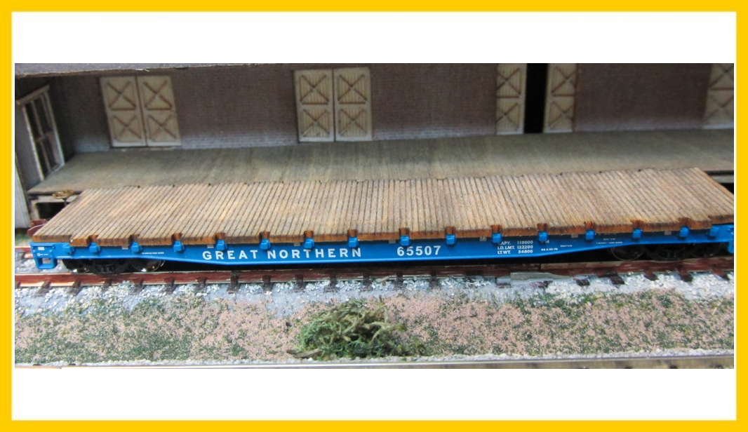 N Scale - RSLaserKits - 3603 - Accessories, Details, Flatcar Decking - Undecorated - Flat Car Deck For Wheels of Time 53