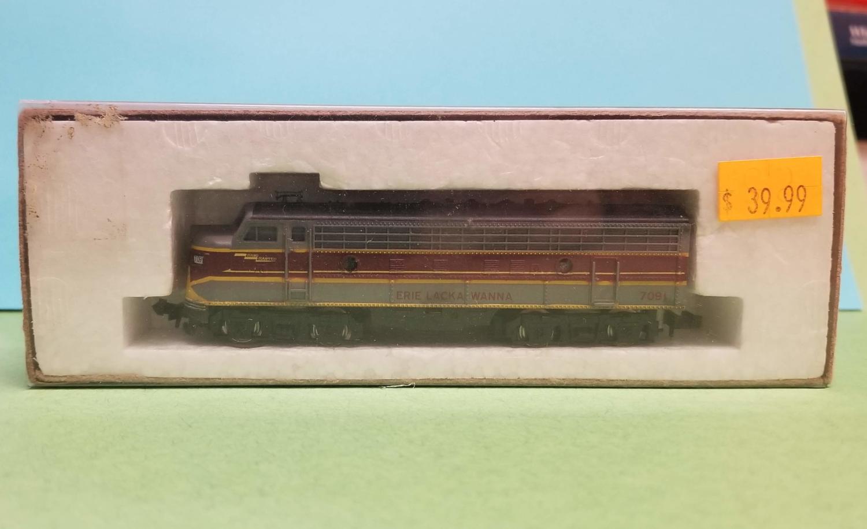 N Scale - Minitrix - UNKNOWN - Locomotive, Diesel, EMD F9 - Erie Lackawanna - 7091