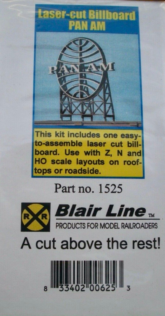 N Scale - Blair Line - 1525 - Signs - Commercial Structures - Pan Am