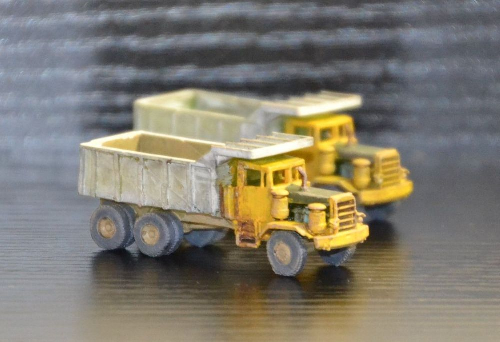 N Scale - Clever Creek Miniatures - CONSTRUCT-12 - Vehicle, Truck, Construction, Dump Truck - Undecorated - Hayes HD Dump Truck