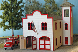 N Scale - NorthEastern Scale Models - 30023 - Structure, Municipal, Fire Department - Municipal Structures
