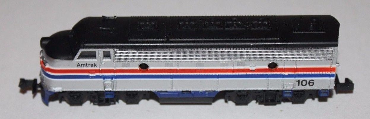 N Scale - Bev-Bel - 4060 - Locomotive, Diesel, EMD F7 - Amtrak - 106