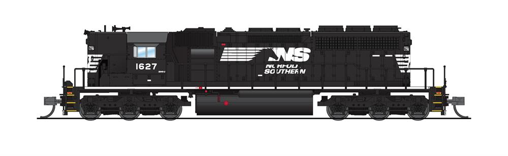 N Scale - Broadway Limited - 6215 - Locomotive, Diesel, EMD SD40-2 - Norfolk Southern - 1629