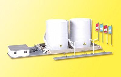 N Scale - Kibri - 37467 - Structure, Railroad, Fuel Tank - Railroad Structures
