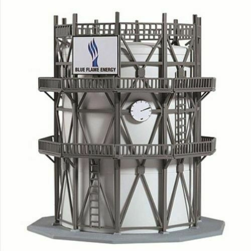 N Scale - Model Power - 2590 - Structure, Industrial, Gas Tank - Blue Flame Energy
