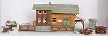 N Scale - Model Power - 2611 - Structure, Railroad, Freight Depot - Railroad Structures