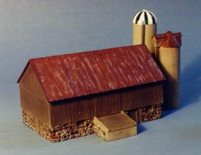 N Scale - Sylvan Scale Models - N-2042 - Structure, Farm, Barn, Silo - Farm Structures