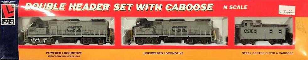 N Scale - Life-Like - 7628 - Train Set - CSX Transportation - 3-unit