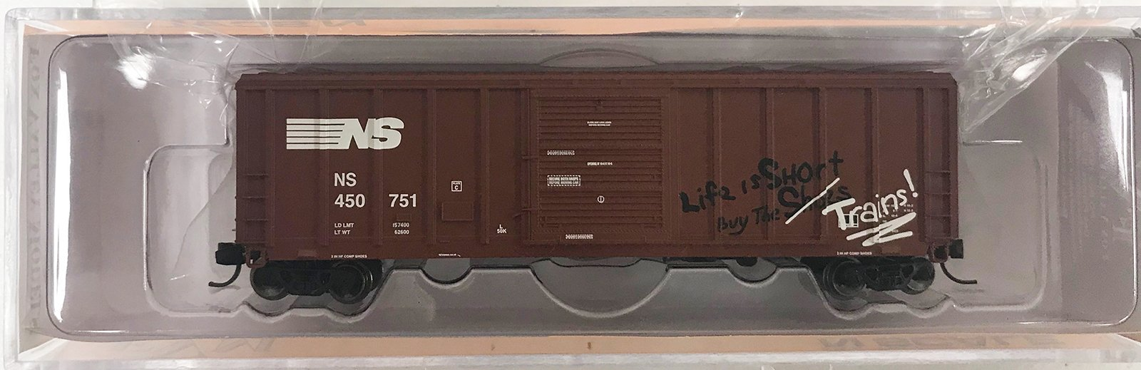 N Scale - Fox Valley - 81266 - Boxcar, 50 Foot, PS 5344 - Norfolk Southern - 450751