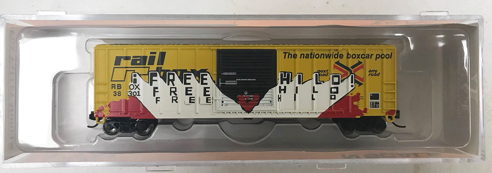 N Scale - Fox Valley - 80328 - Boxcar, 50 Foot, FMC, 5347 - RailBox - 38301