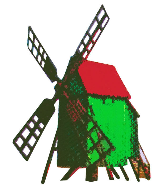 N Scale - Kibri - 37156 - Structure, Windmill - Commercial Structures
