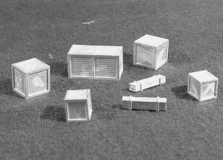 N Scale - C in C - 1621 - Accessory, Details. Wooden Crates - Undecorated