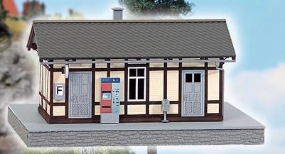 N Scale - Busch - 8214 - Structure, Building, Railroad, Station - Railroad Structures