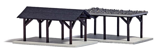 N Scale - Busch - 8249 - Structure, Residential, Carport - Residential Structures