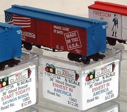 N Scale - AJ California Crossing - 1197-274A - Boxcar, 36 Foot, Wood Truss - Painted/Lettered - 1993