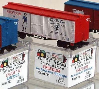 N Scale - AJ California Crossing - 1197-272A - Boxcar, 36 Foot, Wood Truss - Painted/Lettered - 1963