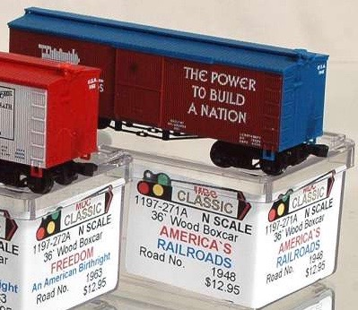 N Scale - AJ California Crossing - 1197-271A - Boxcar, 36 Foot, Wood Truss - Painted/Lettered - 1948