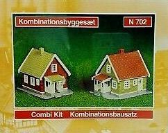 N Scale - Heljan - b702 - Structure, Residential, Farm House - Residential Structures - Farm House