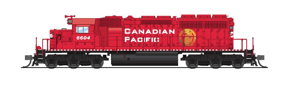 N Scale - Broadway Limited - 6194 - Locomotive, Diesel, EMD SD40-2 - Canadian Pacific - 6604