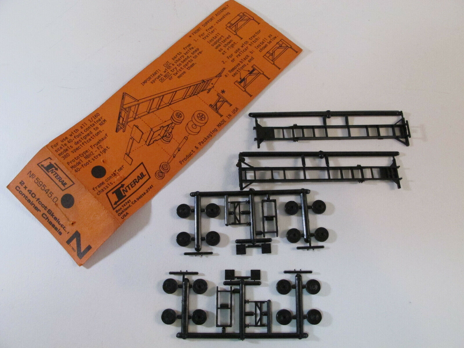 N Scale - Interail Intermodal Models - 59545.0 - Container Chassis, 40 Foot - Undecorated