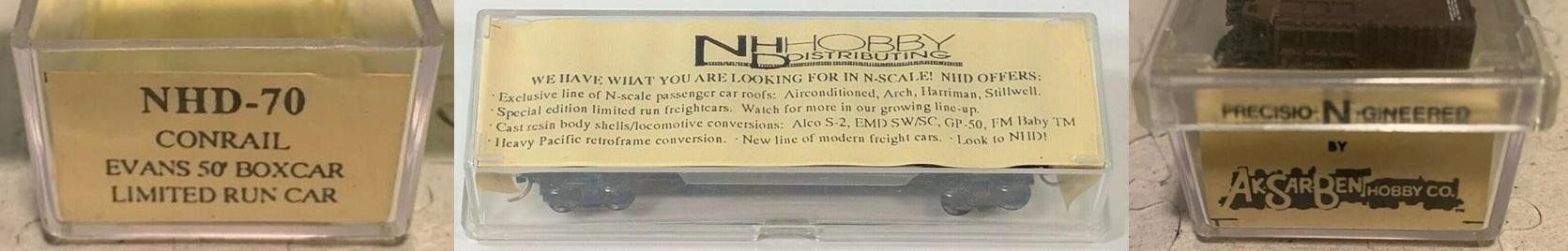 N Scale - N Hobby Distributing - 70 - Boxcar, 50 Foot, Evans 5277 - Conrail - 269226