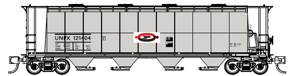N Scale - Prairie Shadows - PS23108-10 - Covered Hopper, 4-Bay, Cylindrical , 3800 cf - Procor - 121482