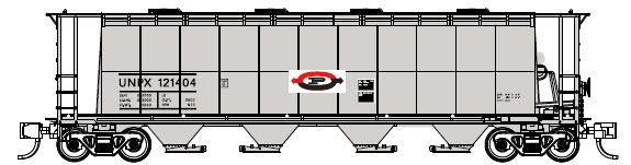 N Scale - Prairie Shadows - PS23108-12 - Covered Hopper, 4-Bay, Cylindrical , 3800 cf - Procor - 121493