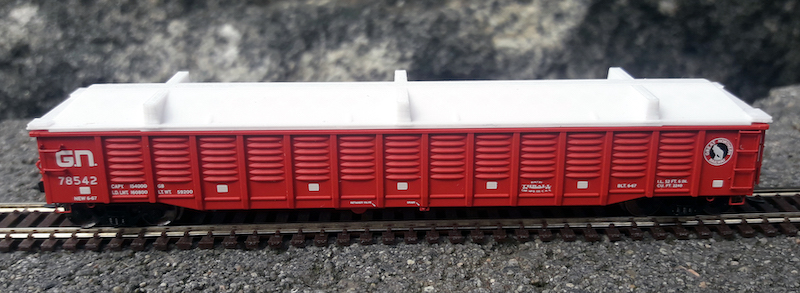N Scale - North American Railcar - NGCAATE-V2 - Accessories,Gondola, Eco Fab Covers - Painted/Unlettered - 2-Pack