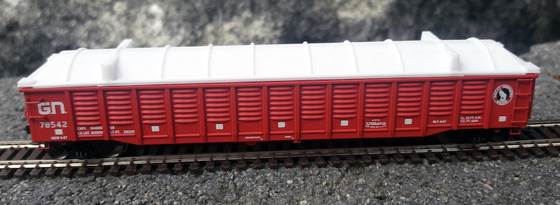 N Scale - North American Railcar - NGCAATE-V3 - Accessories,Gondola, Eco Fab Covers - Painted/Unlettered - 2-Pack