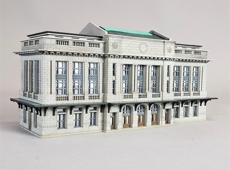 N Scale - Custom Model Railroads - 098 - Structure, Building, Railroad, Station - Railroad Structures - City Station