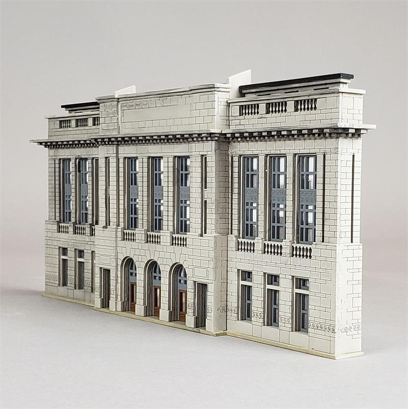 N Scale - Custom Model Railroads - 099 - Structure, Building, Railroad, Station - Railroad Structures - City Station Facade