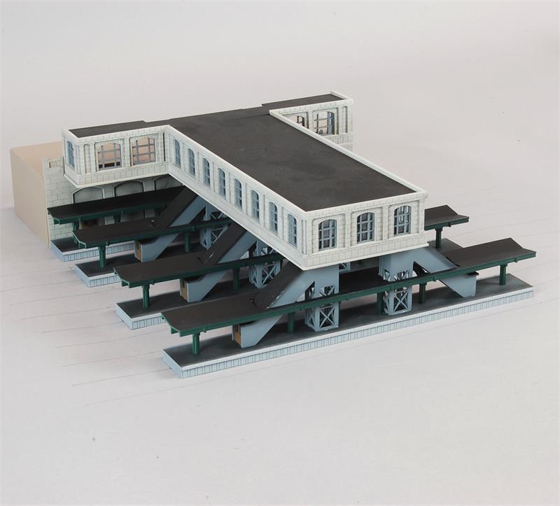 N Scale - Custom Model Railroads - 100 - Structure, Building, Railroad, Station - Railroad Structures - City Station Concourse