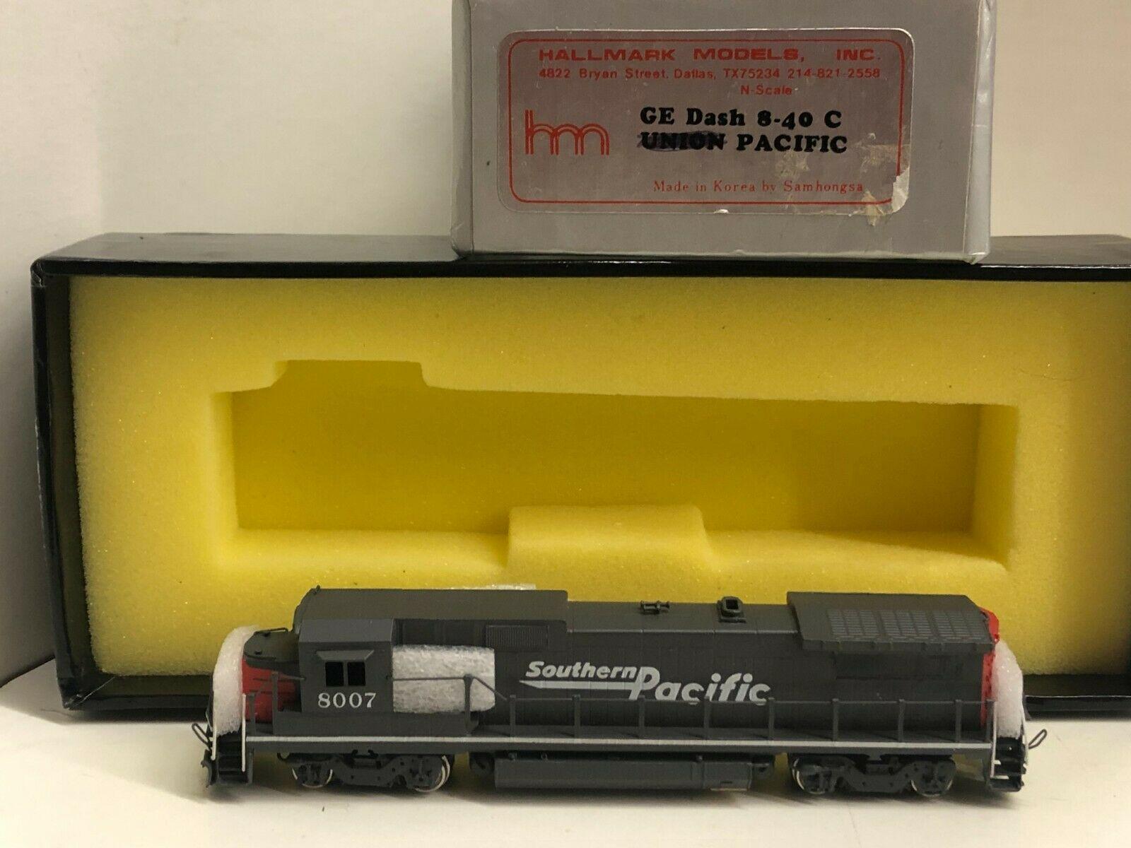 N Scale - Hallmark Models - A14 - Locomotive, Diesel, GE Dash 8 - Southern Pacific - 8007