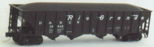 N Scale - Trainworx - 14019-6 - Open Hopper, 4-Bay Steel - Rio Grande - 16973