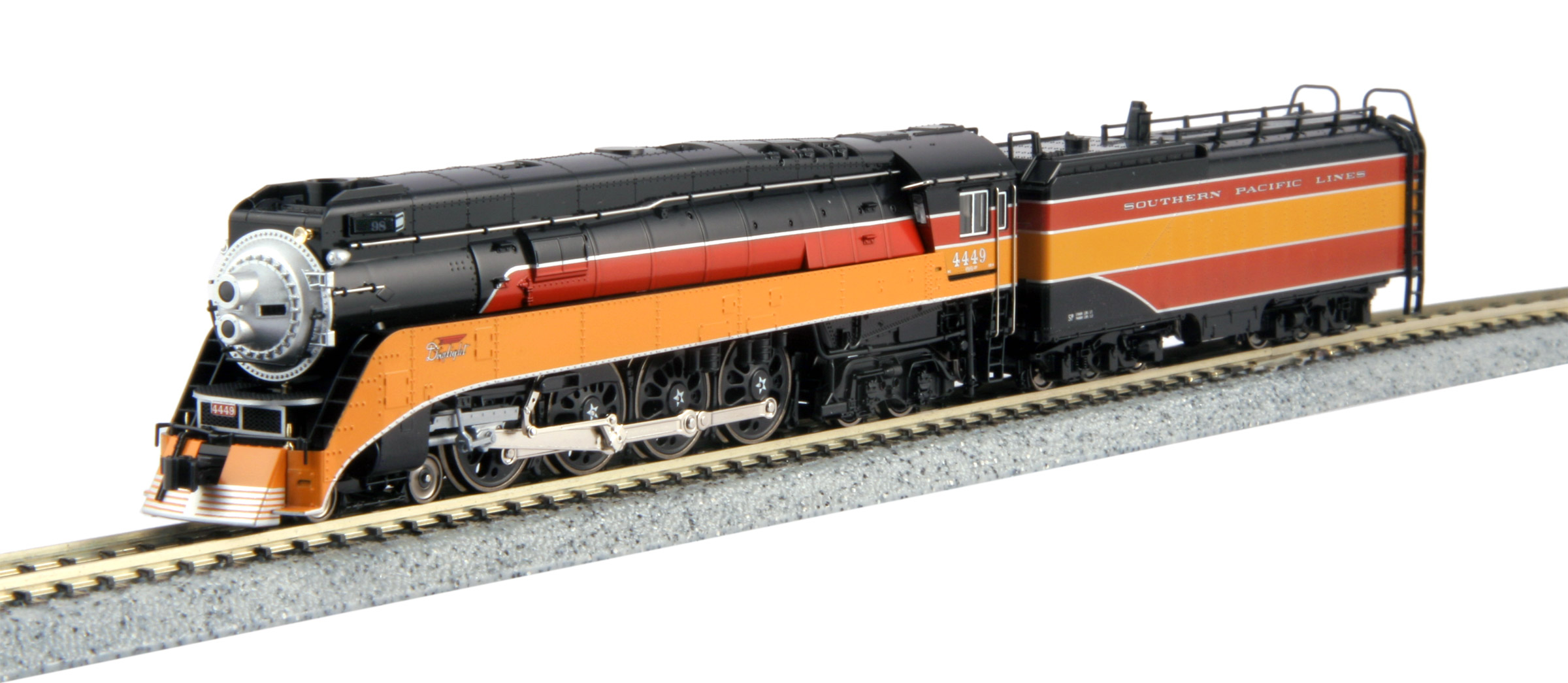 N Scale - Kato USA - 126-0310-LS - Locomotive, Steam, 4-8-4 GS-4 - Southern Pacific - 4454