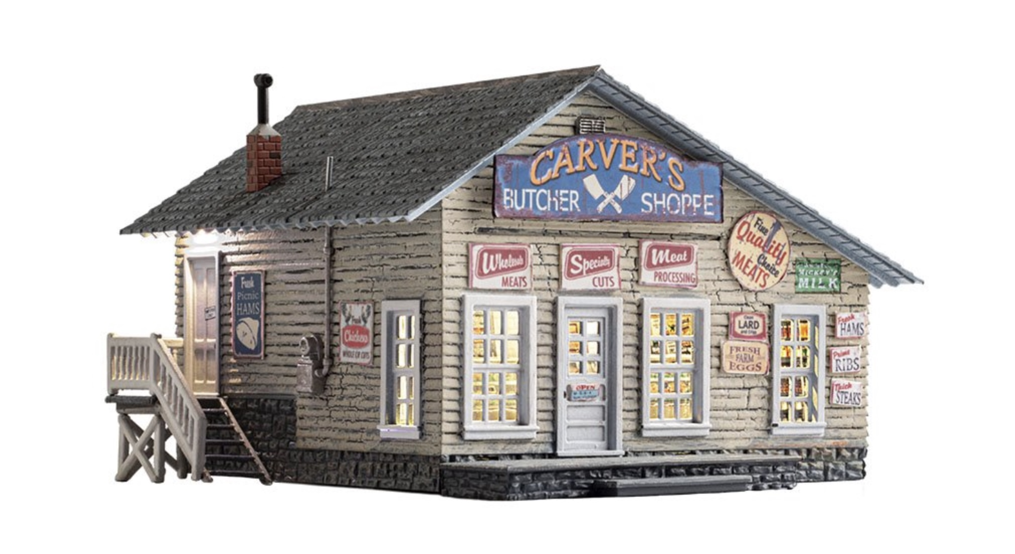 N Scale - Woodland Scenics - BR4958 - Structure, Building, Commercial, Store - Commercial Structures - Carver