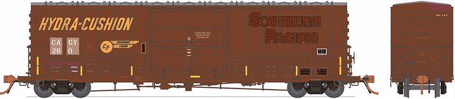 N Scale - Rapido Trains - 537009 - Boxcar, 50 Foot, Steel, PC&F, B-100-40 - Columbus & Greenville - 6-Pack