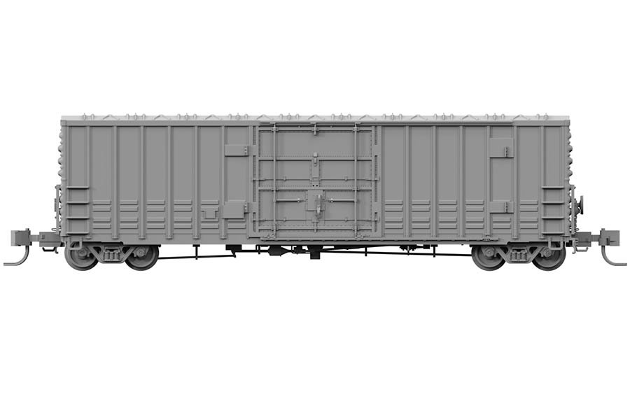 N Scale - Rapido Trains - 537099 - Boxcar, 50 Foot, Steel, PC&F, B-100-40 - Undecorated
