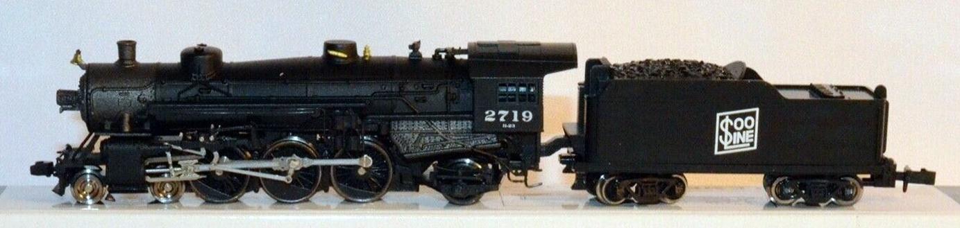 N Scale - Model Power - 7405 - Locomotive, Steam, 4-6-2, Pacific - SOO Line - 2719