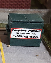 N Scale - Osborn Models - RRA-3132 - Accessories, Details, Dumpster - Undecorated - Garbage Dumpster