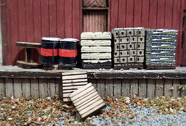 N Scale - Osborn Models - RRA-3127 - Accessories, Details, Pallet - Undecorated - Pallet Load