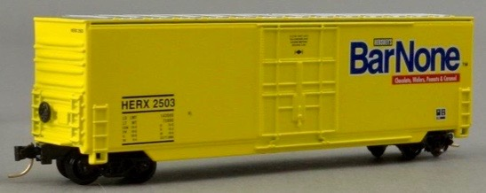 N Scale - Aztec - HER5032 - Boxcar, 50 Foot, Fruit Growers Express - Hershey Foods - 2503