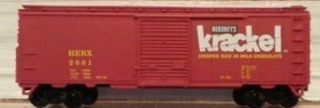 N Scale - Aztec - HER5021 - Boxcar, 40 Foot, PS-1 - Hershey Foods - 2001